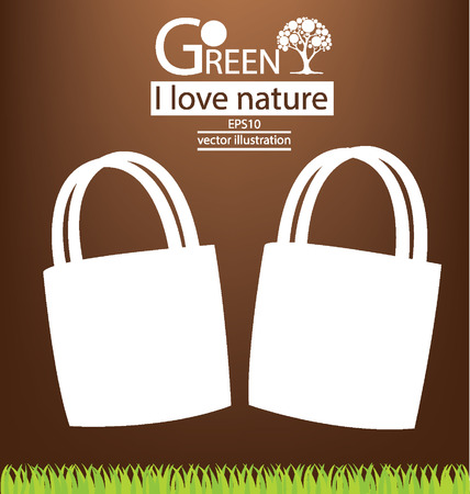 Bags, Go green concept vector illustration Stock Vector - 25028241