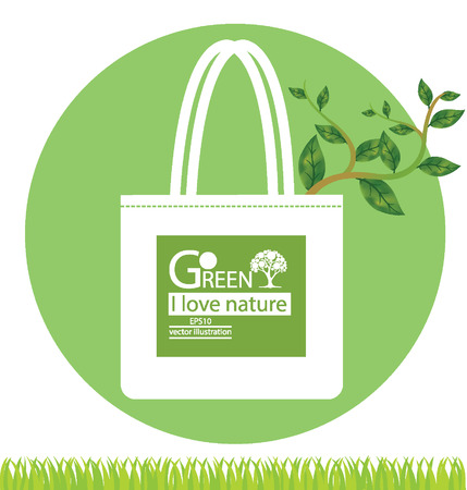 Bags and Go green concept illustration Stock Vector - 25028250