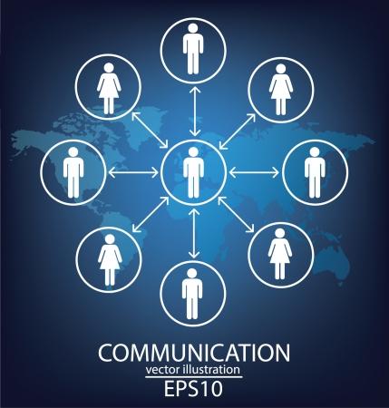 reciever: communication concept connection Illustration