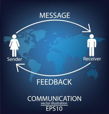 communication concept: communication concept connection Illustration