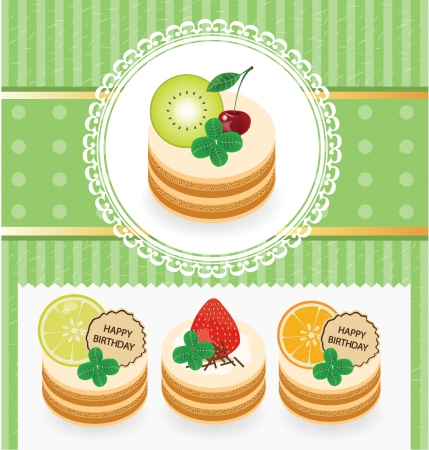 Cakes illustration Vector