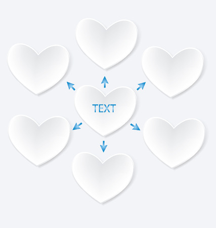Heart diagram illustration Vector