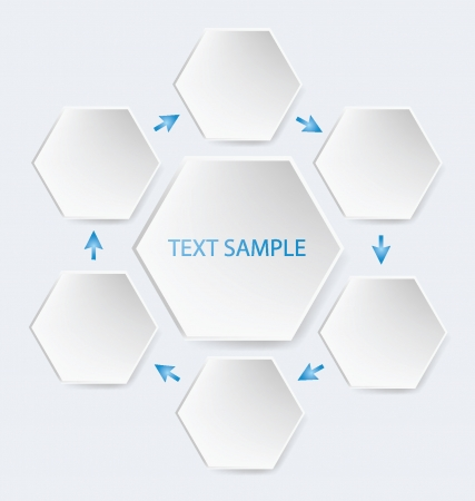 business education: Hexagon, business, education, diagram vector illustration