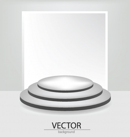 White backdrop in room illustration
