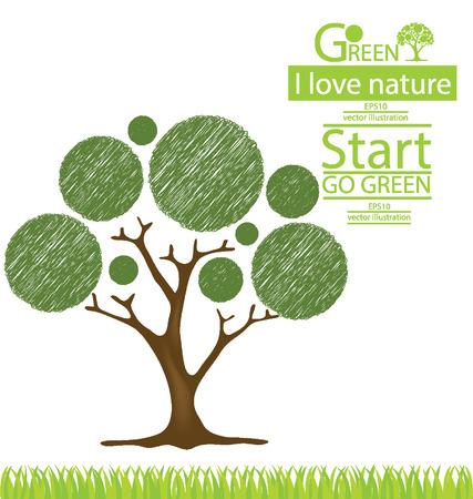 Дизайн Дерево, Экологичность, Save мира иллюстрации