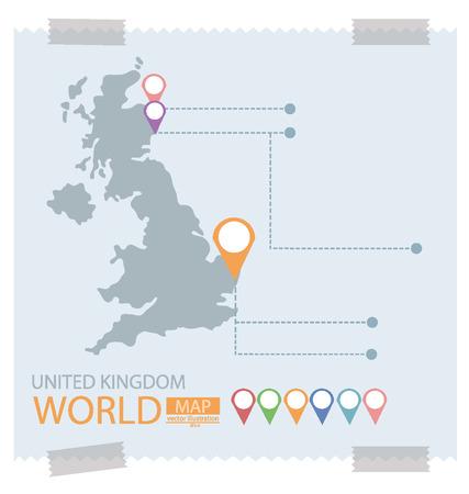 england map: United kingdom Map vector Illustration.