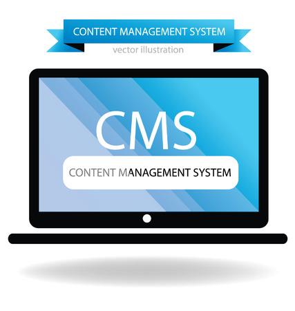 content management system concept Vector