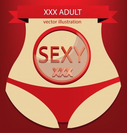 sexy girl, XXX vector illustration Vector