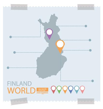 Finland Map vector Illustration Vector