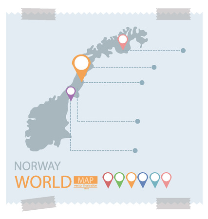 Norway. Map vector Illustration. Vector