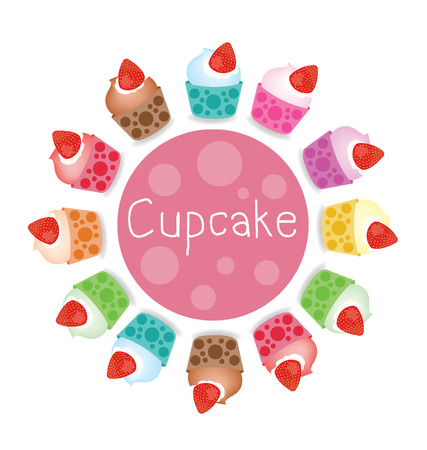 Cupcakes vector illustration Vector