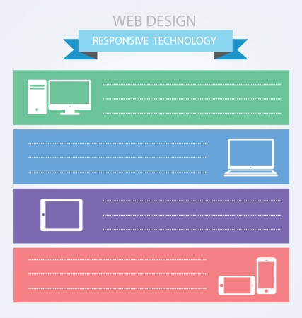 Responsive Web Design, vector Stock Vector - 25122780