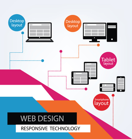 Responsive Web Design, vector Stock Vector - 25122781