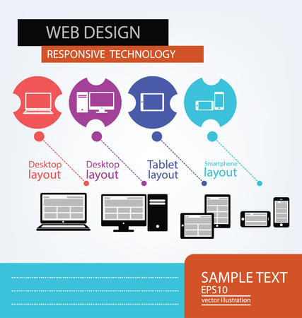 Responsive Web Design, vector Stock Vector - 25122787
