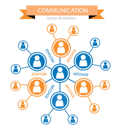 feedback link: communication concept, connection vector Illustration