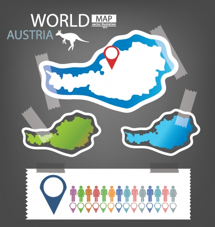 Australia, Map vector Illustration Vector