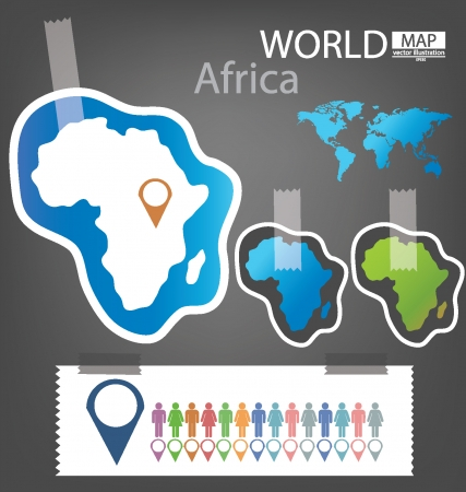 Africa, World Map vector Illustration Stock Vector - 25438073