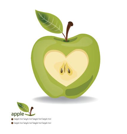 Любовь векторные иллюстрации Apple,