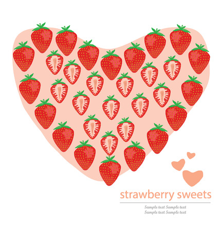 love strawberry vector illustration Vector