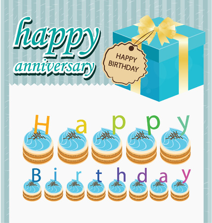 Gift box, Cake vector illustration Vector