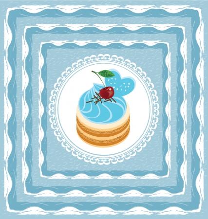 Векторные иллюстрации торт Иллюстрация