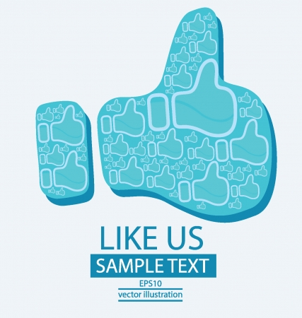 vote here: Like button vector illustration
