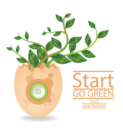Go green concept, Save world illustration Vector
