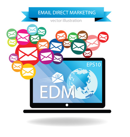 e mail: email direct marketing Illustration