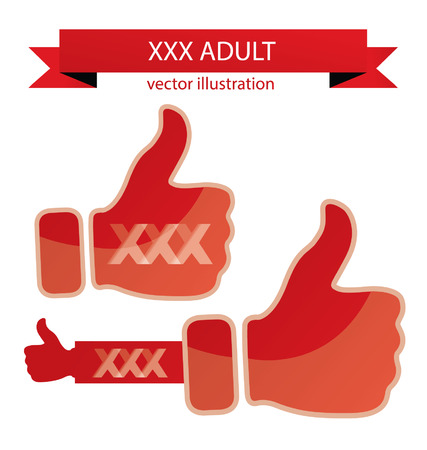 thumb up, XXX vector illustration Vector