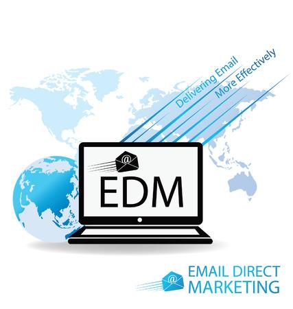 smart goals: email direct marketing concept Illustration