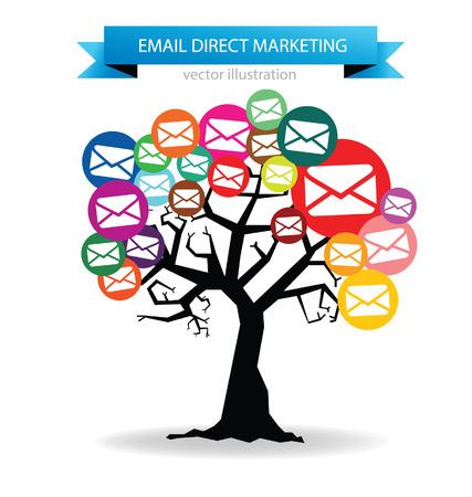 email direct marketing concept Illustration