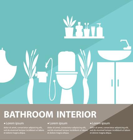 Bathroom inter vector illustration Stock Vector - 25935502