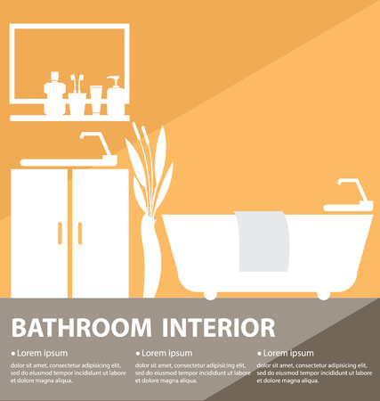 Bathroom interior vector illustration Illustration