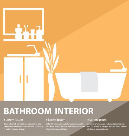 Bathroom interior vector illustration Ilustração