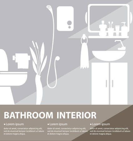 Bathroom interior vector illustration Vector