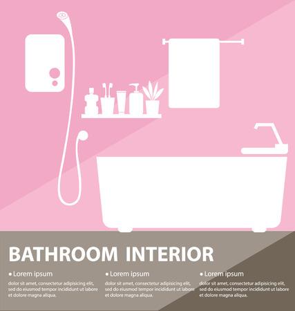 Bathroom inter vector illustration Stock Vector - 25935507