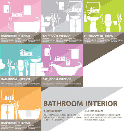 Bathroom interior vector illustration Vector