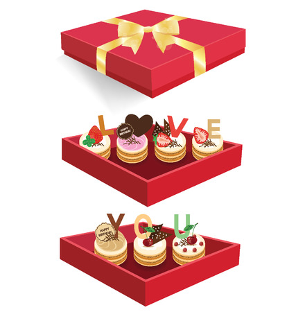 Cake packaging concept  Vector
