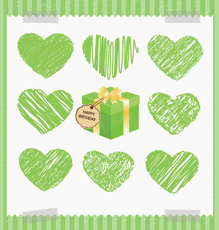Happy  anniversary, Valentine s day, Love concept illustration Vector
