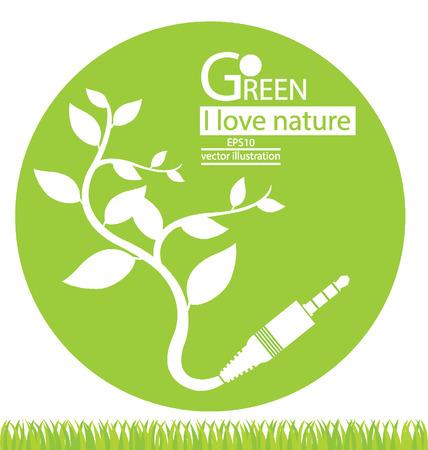 Go green concept, Save world vector illustration Vector