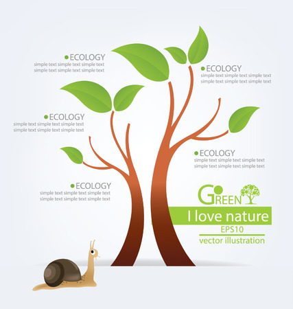 Go green concept, Save world vector illustration Vector