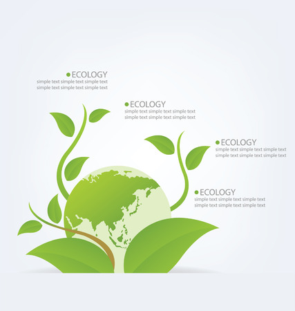 save tree: Go green concept, Save world vector illustration