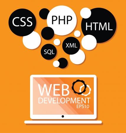 Web Development concept Stock Vector - 25529222