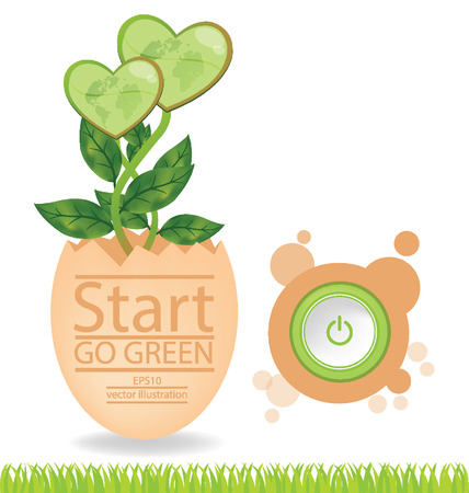 cloven: Go green concept, Save world vector illustration