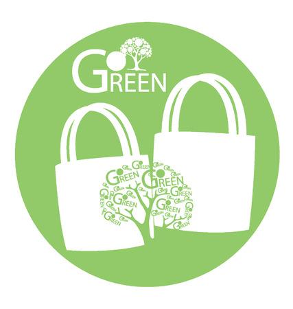 Go green concept, Save world illustration Vector