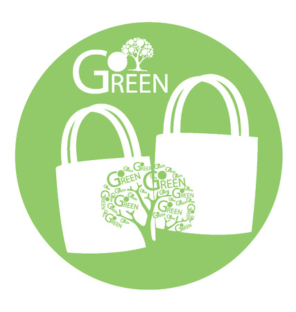 go to store: Go green concept, Save world illustration