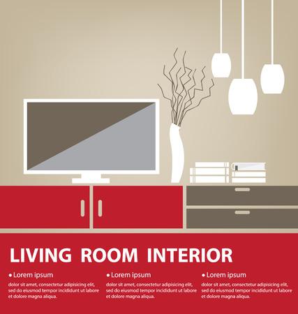 Living Room vector illustration Vector
