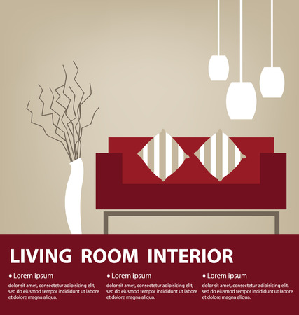 Living Room vector illustration Vector