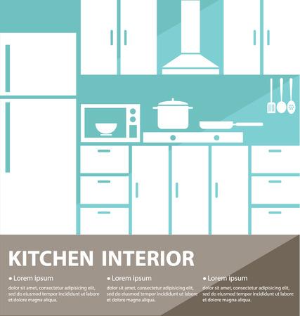 kitchen interior vector illustration Vector