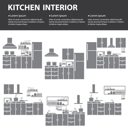 kitchen interior vector illustration Vector